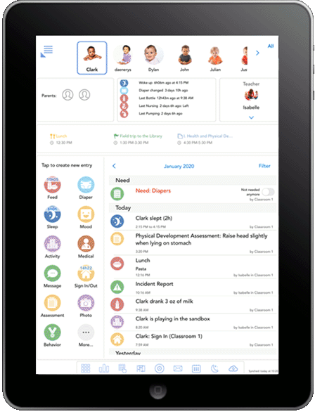 Baby tracker and log for Android, iPhone, iPad, Kindle and for the web